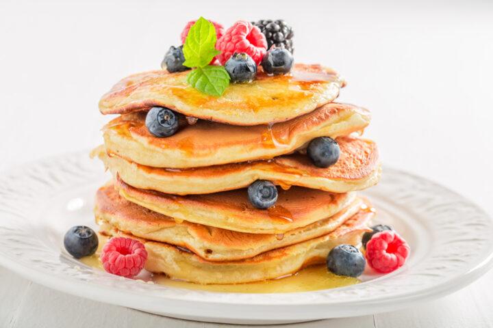American pancake stack