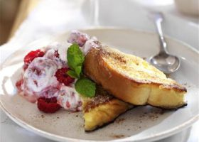 Ainsley Harriott's - Brioche pain perdu with summer berry yoghurt