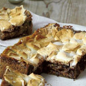 candice-brown-blondies-square with marshmallow on top