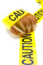 Sliced bread with caution tape