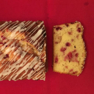 Raspberry and lemon cake with drizzled icing